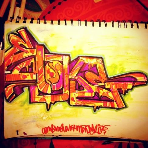 Sketch Orange and Yello